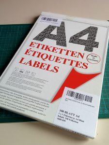 A4 selbstklebende Etiketten