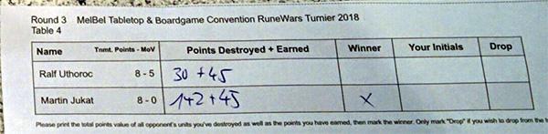 Ergebnis Runde 3