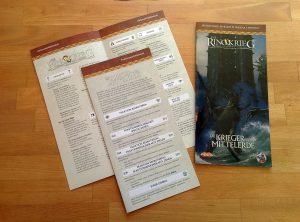 Regelbuch und Referenzblätter